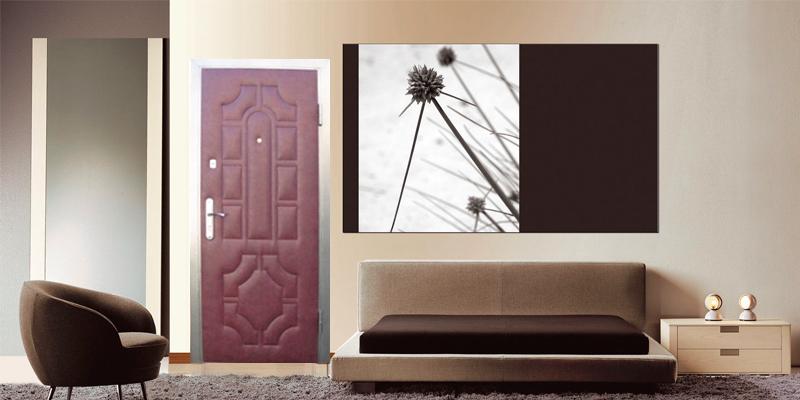 Двери с декоративной отделкой винилискожей