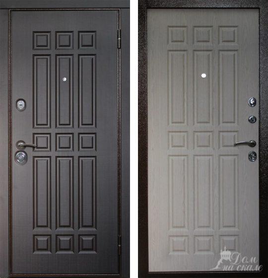 Стальная дверь с  декоративными накладками из плит МДФ, ламинированными пленками ПВХ
