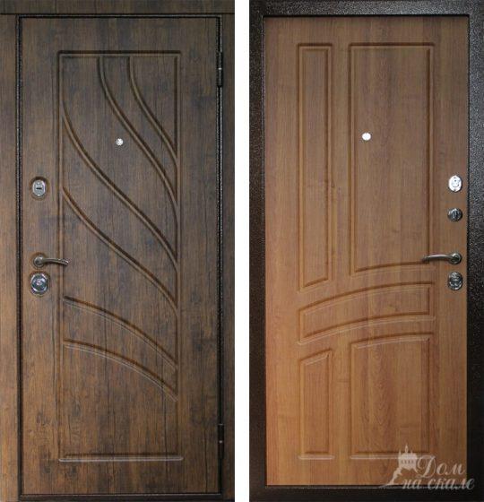 металлические двери с мдф плитой с пвх пленкой