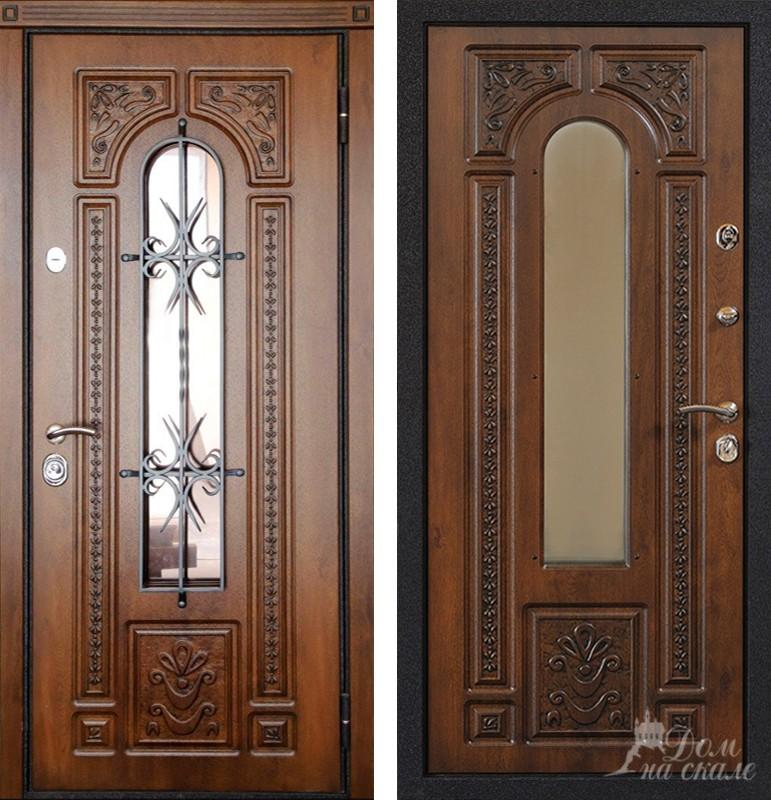 металлические двери с двух сторон в частный дом цены