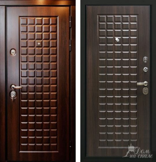 Стальная дверь «Шоколадка»
