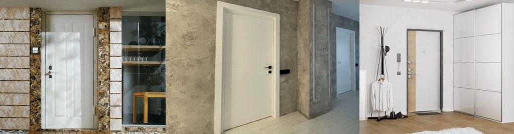 Белые выходные двери