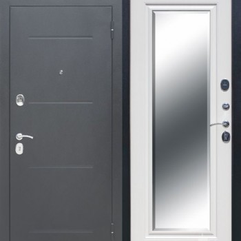 входная дверь 7,5 см GARDA Серебро Зеркало Фацет Венге